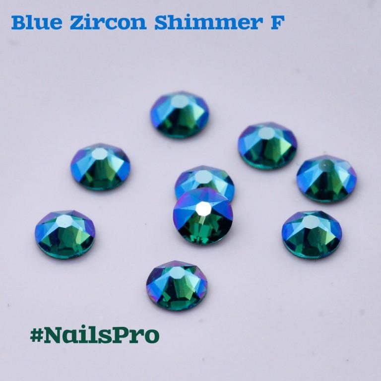 СВАРОВСКИ SS7 BLUE ZIRCON SHIMMER F 24шт