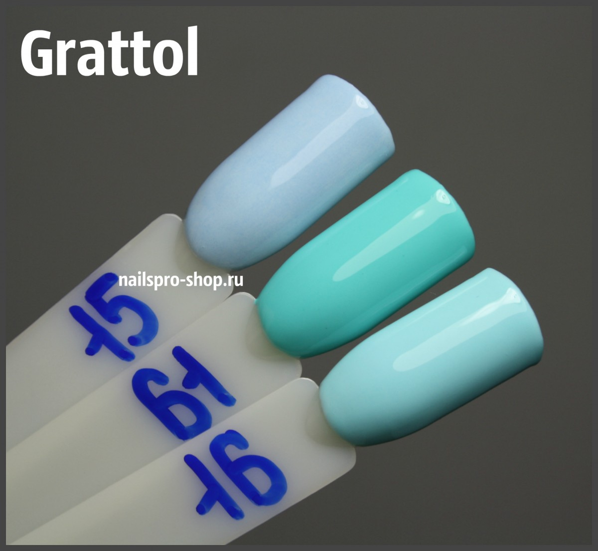 Grattol Color Gel Polish 061 Light Turquoise