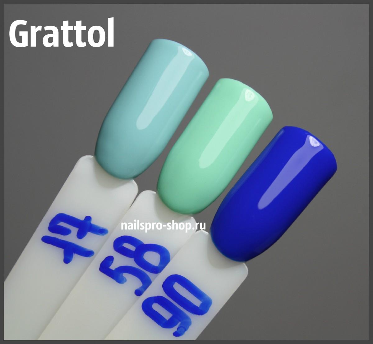 Grattol Color Gel Polish 017 White Blue