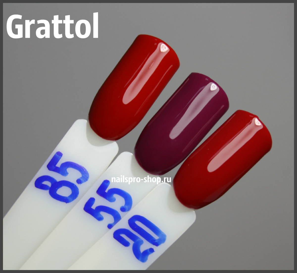 Grattol Color Gel Polish 020 Red Ruby