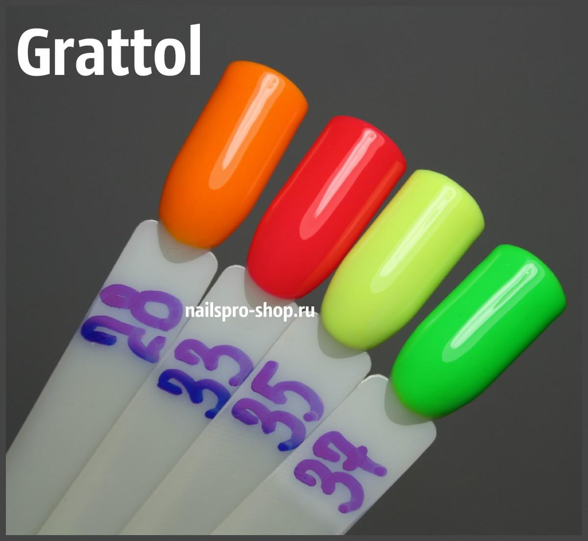 Grattol Color Gel Polish 028 Tangerin